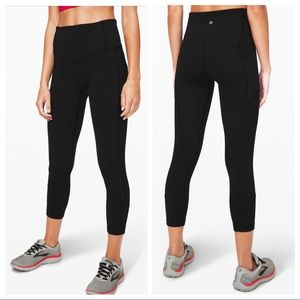 """Lululemon All The Right Places Crop II *23"""" Black"""